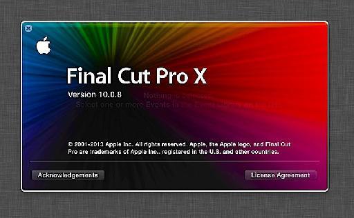 Final Cut Pro X 10.0.8 Splash Screen: Small Steps, Big Changes?