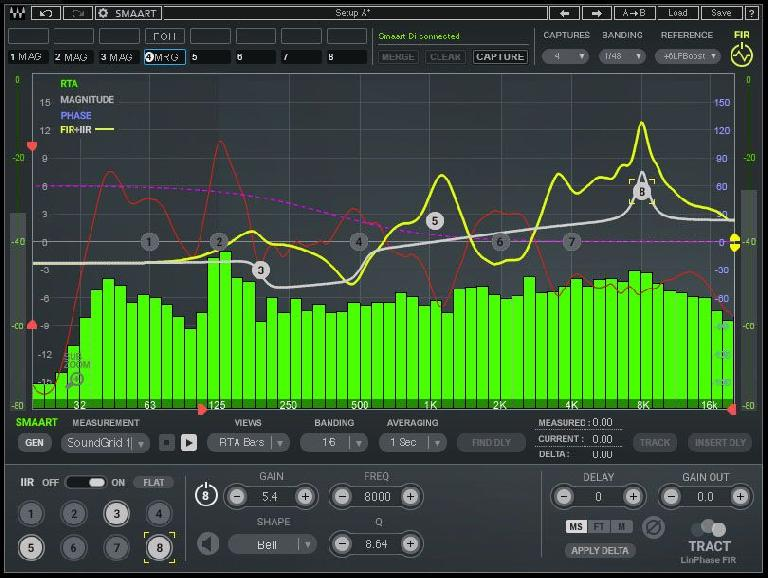 User interface for Waves TRACT System Calibration plugin