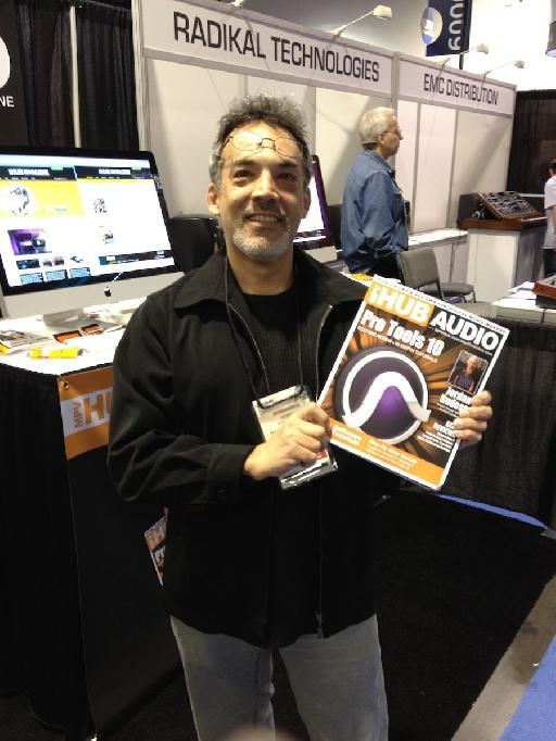 Peter Schwartz, (Mr MIDI / Logic Guru & MPV Trainer), modelling… the new MPVHub Audio Mag that is!