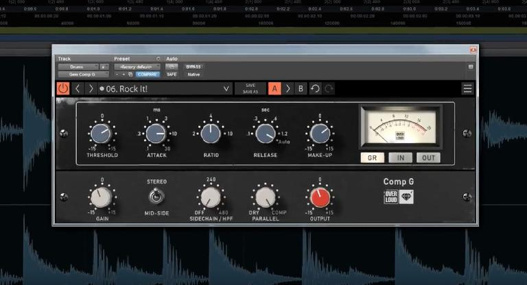 Overloud Comp G features.