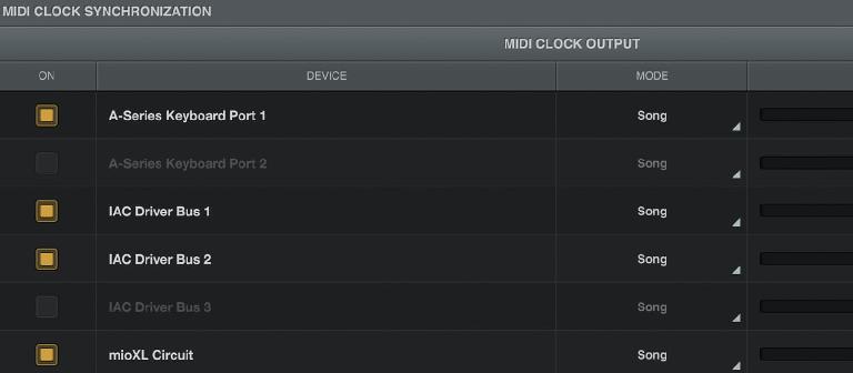MIDI Clock Output