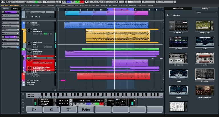 Project window in Cubase 8.5