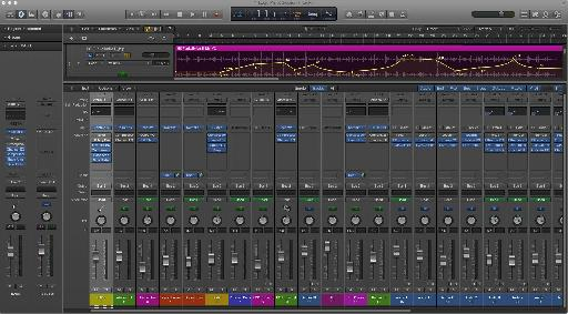 The redesigned Mixer and channel strips in Logic Pro X.