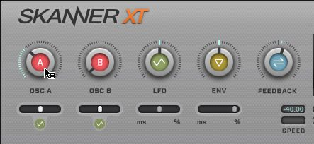 Set Oscillator A Position Modulation knob to 10 O'Clock
