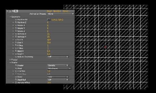 Basic grid in wireframe