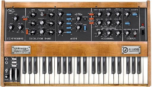 Minimoog-V, a collaboration between Moog Music and Arturia.