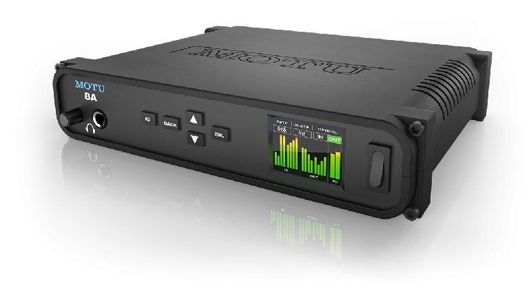 MOTU 8A mobile audio interface.