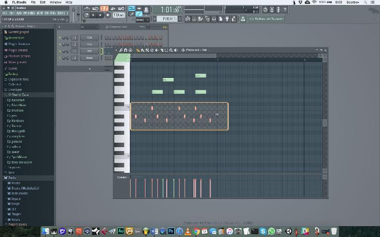 Select MIDI notes