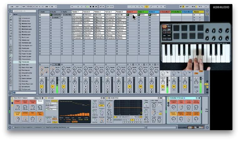 Color Bots in action in Ableton Live 9.6