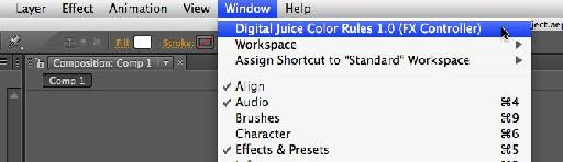 Launching the Color Rules Control Panel