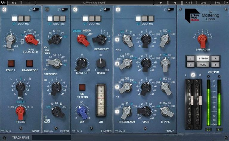 Waves Audio TG Abbey Road Mastering Chain