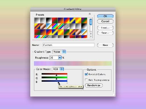 Color mode sliders