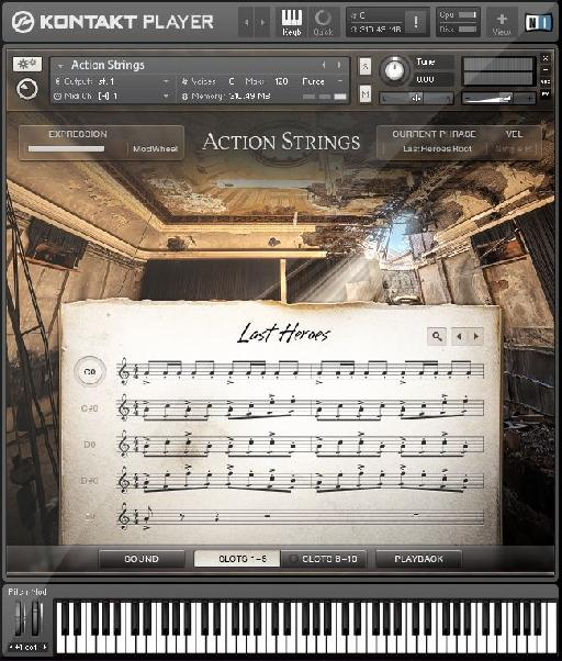 Action Strings is just one of the huge cinematic libraries that comes with Ultimate.
