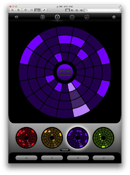 Loopseque's main interface - 'The Big Wheel'