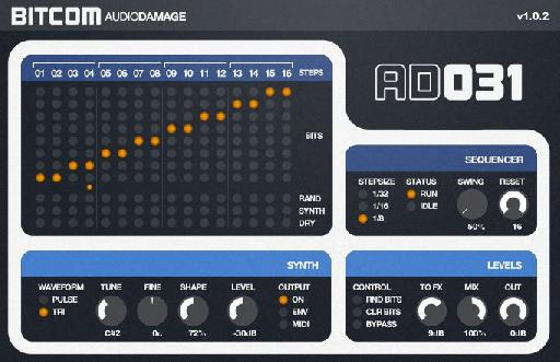 AudioDamage Bitcom (different bit on each beat)
