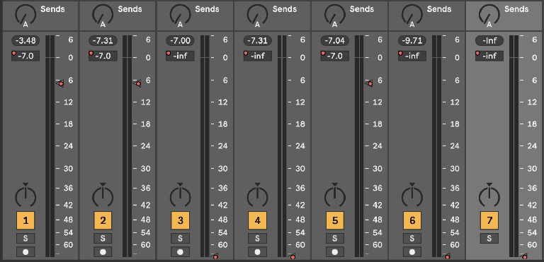 "PIC 8: Track faders in the Session view ""stuck"" by automation."