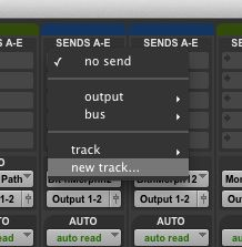 Sending to a track that has not yet been created.