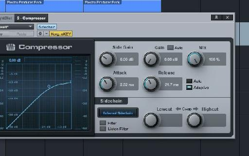 Click on the Sidechain button.