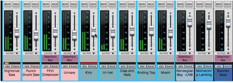 In Reason 10.2 you can now adjust multiple faders.