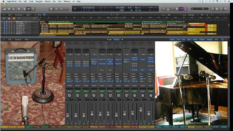 "Fig 1 Mixing one or two live audio tracks into a primarily ""in-the-box"" arrangement can help provide a looser, more musical feel"