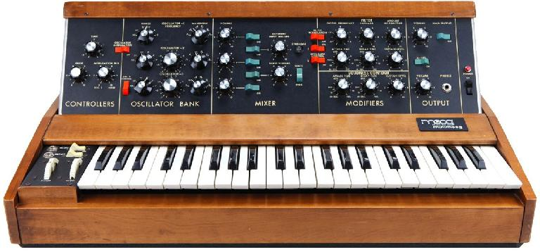 The original Minimoog, a classic monophonic analog synth