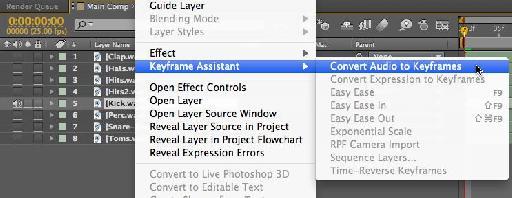 Convert audio to keyframes