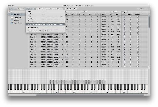 Manually backing up an EXS24 Instrument and its related sample files.