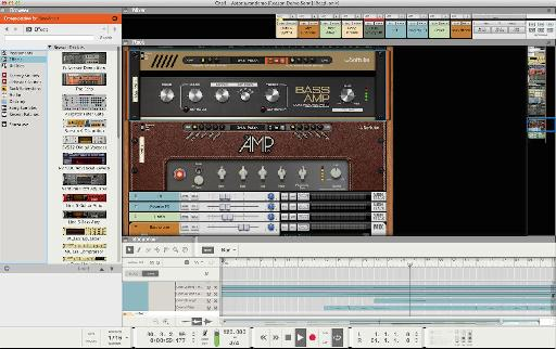 The new guitar and bass processing modules in Reason 8.