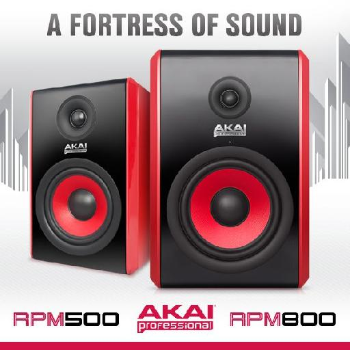 The Akai RPM500 and RPM800 in all their glory.