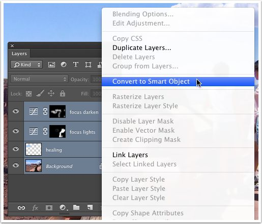 Just select all your layers and right-click