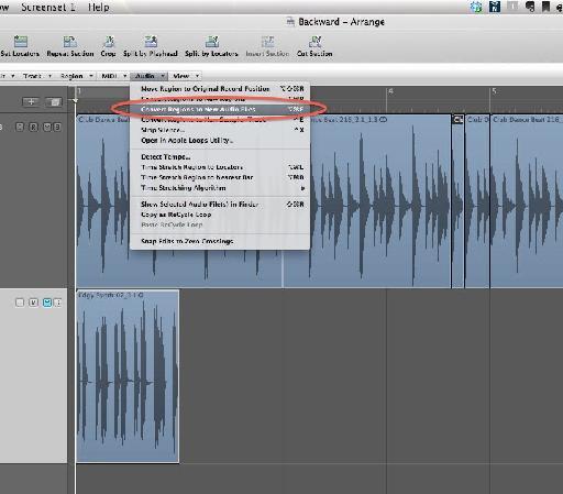 Audio > Convert Regions to New Audio Files.