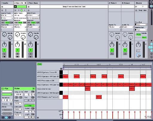 Drum loop in Ableton