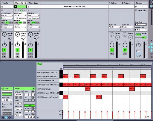 Drum loop in Ableton