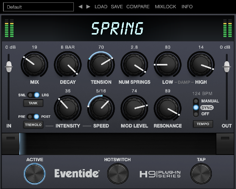 Eventide Spring reverb in action