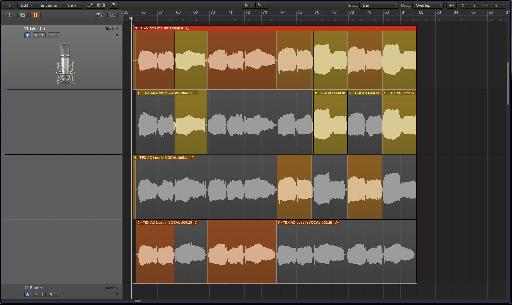 Fig. 2: A vocal comp pieced together from several takes, which may or may not blend together tonally.