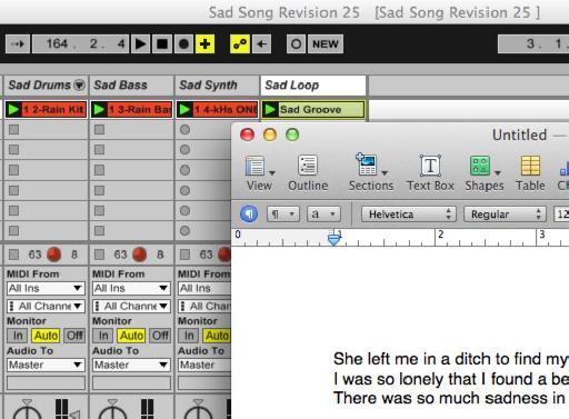 sad music in Ableton