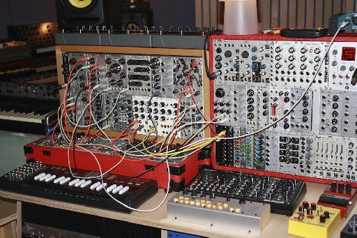 Damian's studio contains some wonderful hardware!