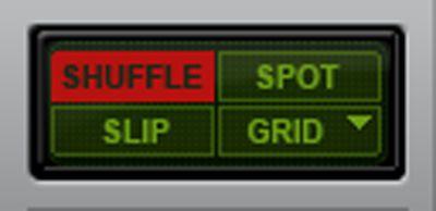 Shuffle edit mode selected