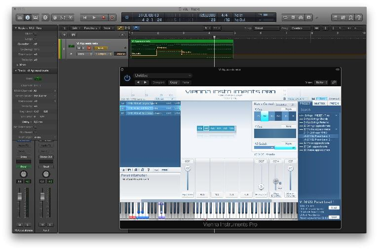 Art Conductor 2 in Logic Pro X with Vienna Instruments Pro