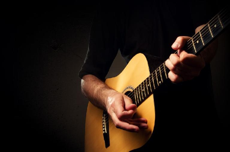 Strum guitar