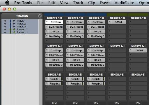 Using Shift-W - note that despite the name the ModDelay plug-in is not bypassed as Pro Tools has this in the Delay category.