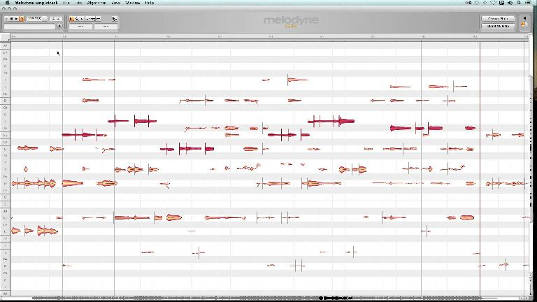 Melodyne's DNA polyphonic pitch editing feature