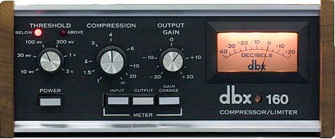 The dbx 160 VCA Compressor.