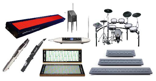 A variety of alternative MIDI controllers.
