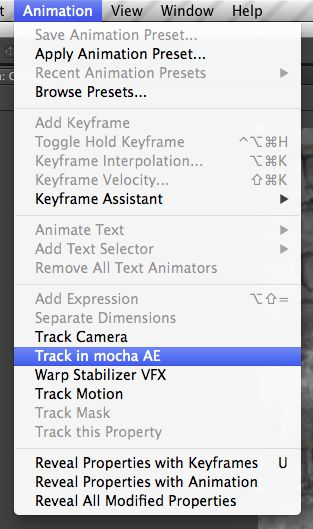 In After Effects, this is how you access the built-in mocha AE, which mocha Plus aims to replace.