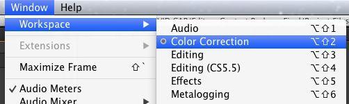color correction workspace