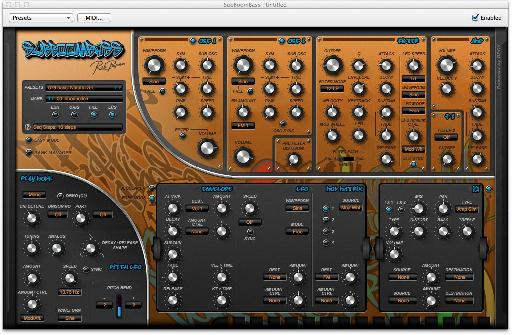 The synth can be used in Easy or Advanced modes, though even advanced isnt particularly tricky to learn.