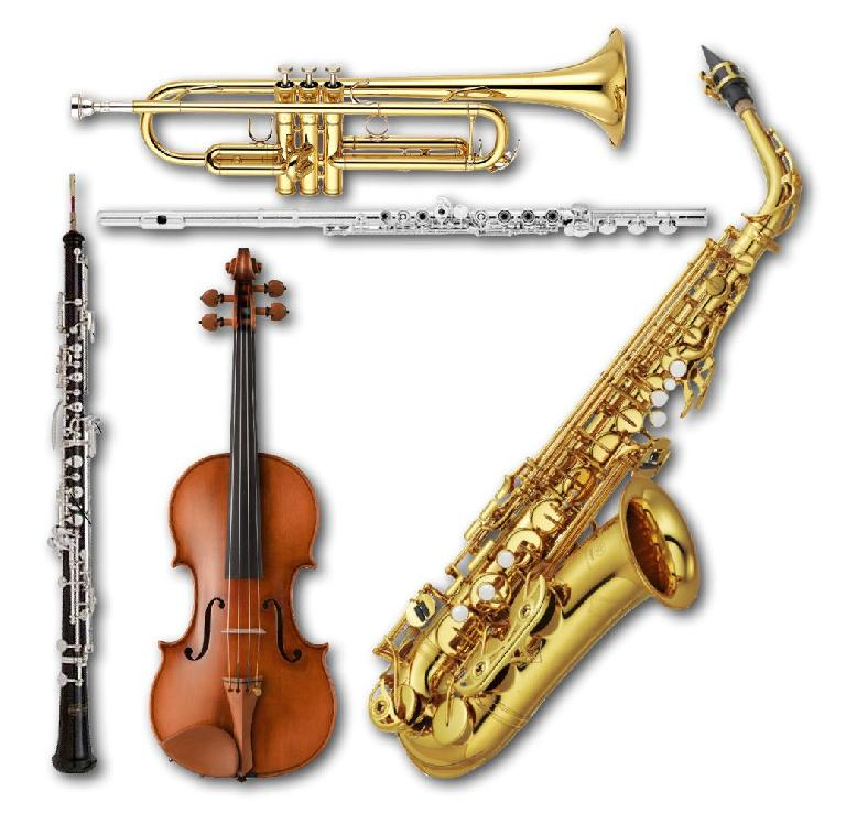 Several acoustic instruments that are typically played monophonically with legato phrasing