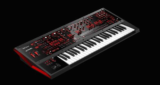 Roland JD-XA analog/digital hybrid synthesizer.