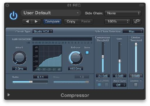 The Logic Compressor's Studio VCA Mode.